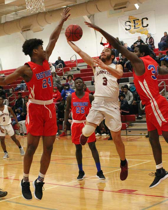 East Orange Campus HS boys' basketball team defeats Bloomfield