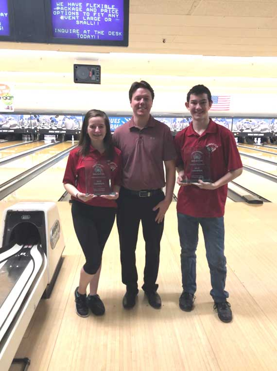 Bloomfield High School's Bryan Fuscarino and Shannon Broadfoot crowned Essex County bowling champions