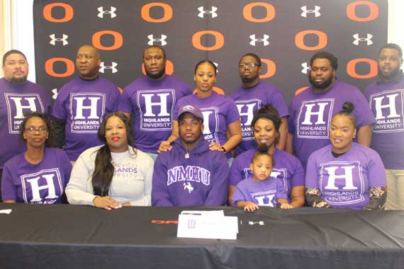 Go West, young men. Orange HS football players Nigil Thomas and Trevion Thomas sign with Division II New Mexico Highlands University