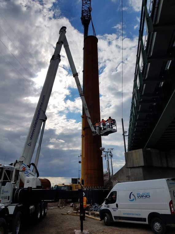 Early construction work completed for Portal North Bridge